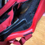 ヘルメットの補修