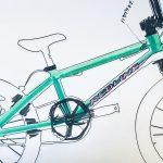 久しぶりに自転車塗ってる(2)